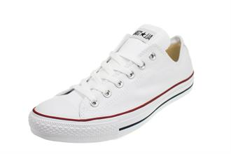 ALL STARS Wit laag canvas veter