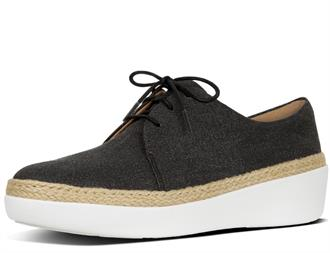 FITFLOP Antraciet canvas veterschoen