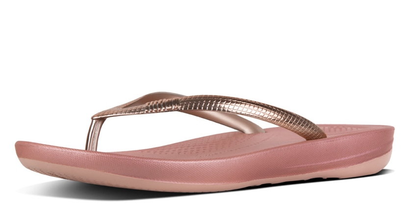 FITFLOP Gold mirror teenslipper