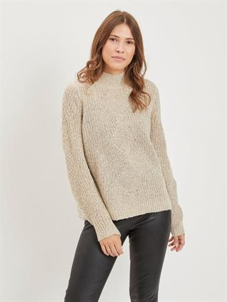 OBJECT Beige trui turtle neck
