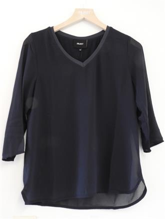 OBJECT Blauw tulle top