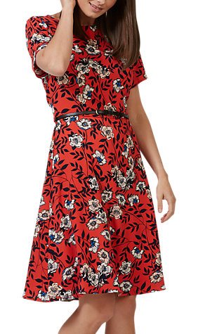 SUGARHILL Red floral dress roses