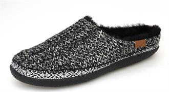 TOMS Black knit house slipper