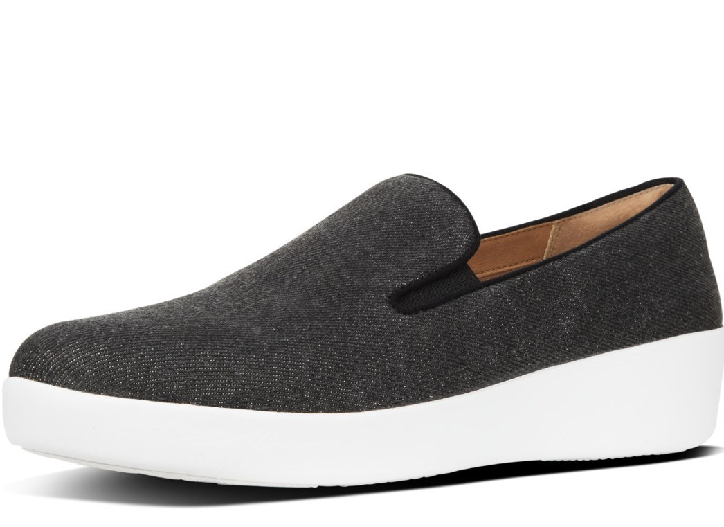 FITFLOP Antraciet canvas instap
