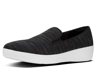 FITFLOP Antraciet knit instap