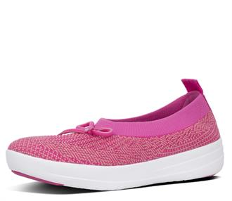 FITFLOP Fuxia knit ballerina