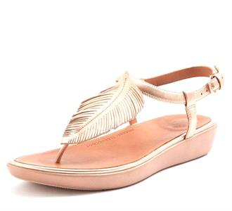 FITFLOP Rose gold bladje teensandaal