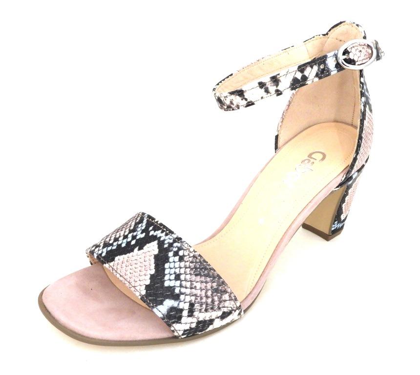 GABOR Piton roze sandaal hak