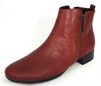 GABOR Rood bootie rits -h-