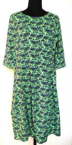 HEIDEKONIGIN Green flower dress