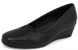 HUSH PUPPIES Zwart pump elastiekje