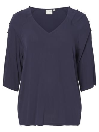 JUNAROSE Blue v neck blouse