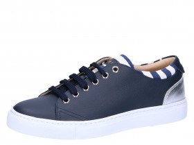c27ef633a35 MAIMAI Blauw leder sneaker