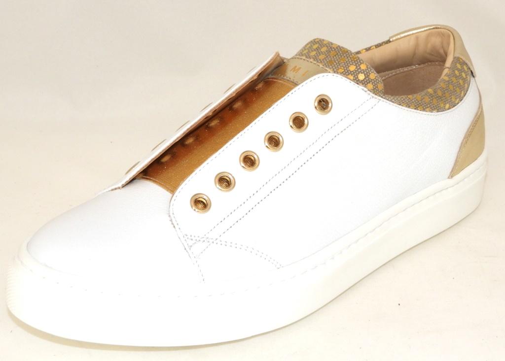 d2955e31fb5 MAIMAI Wit sneaker elastiek