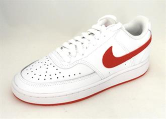 NIKE White sneaker red acc