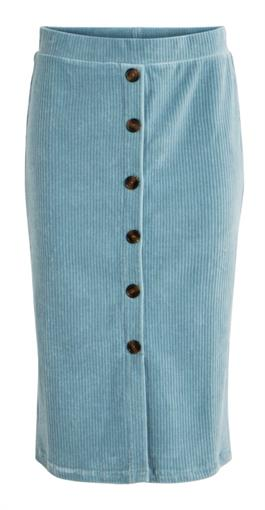 OBJECT Baby blue velvet skirt
