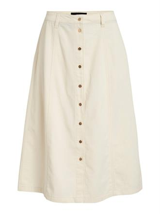 OBJECT Beige button skirt
