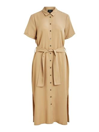 OBJECT Beige maxi shirt dress