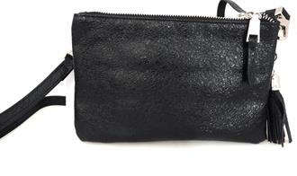 OBJECT Black glitzy crossover bag