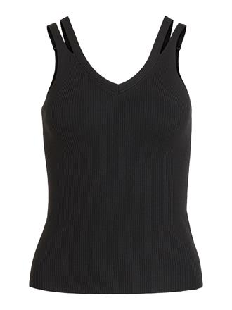 OBJECT Black knit tank top