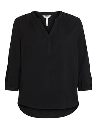 OBJECT Black v-neck blouse
