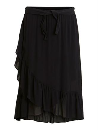 OBJECT Black wrap skirt