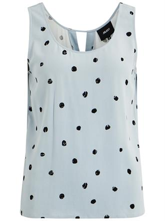 OBJECT Blue polka dot top