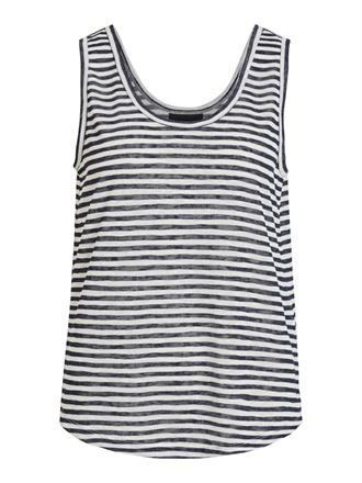 OBJECT Blue stripes top