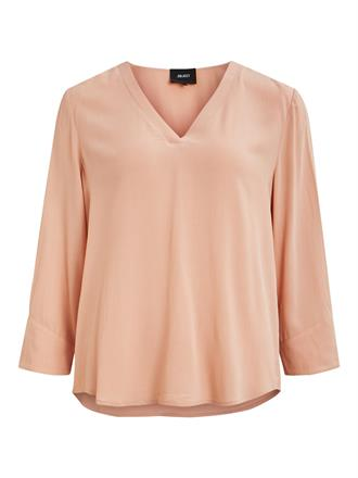 OBJECT Blush v-neck blouse