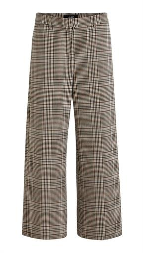 OBJECT Chekked pants brown accent