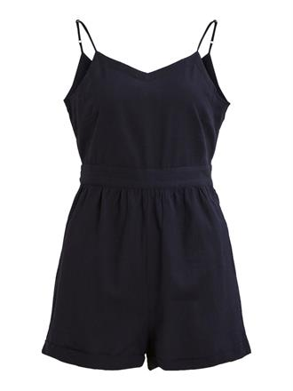 OBJECT Dark blue strap playsuit