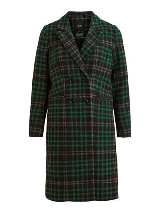 OBJECT Green checked coat