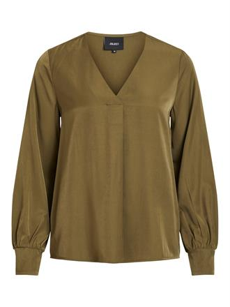 OBJECT Khaki v-neck blouse
