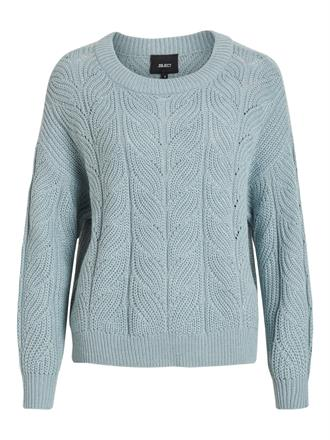 OBJECT Light blue knit pullover