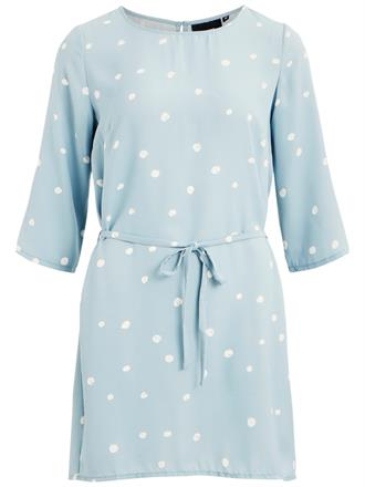 OBJECT Light blue polka dots dress