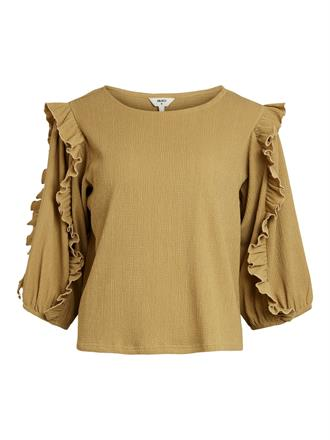 OBJECT Olive ruffle top