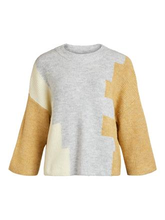 OBJECT Pastel color blocking knit