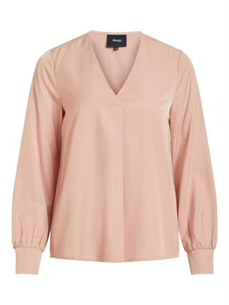 OBJECT Powder pink v--neck blouse