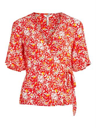 OBJECT Red flowers blouse