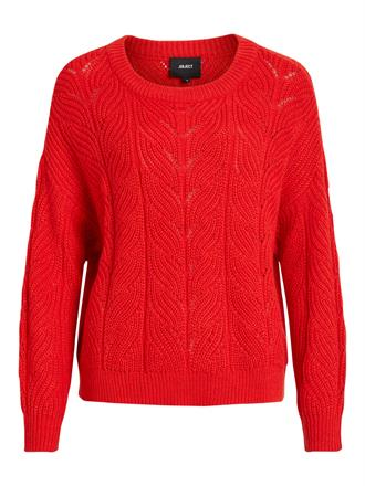 OBJECT Red knit pullover