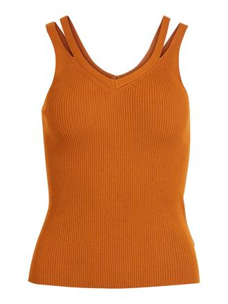 OBJECT Rust knit tank top
