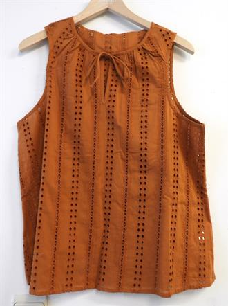OBJECT Rust lace top