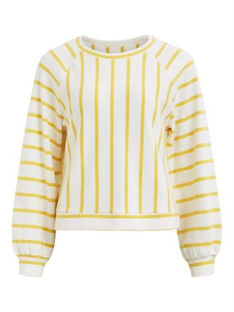 OBJECT Sweater yellow stripes
