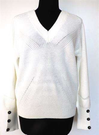 OBJECT White double v knit