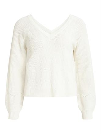 OBJECT White double v pullover