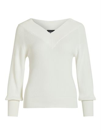 OBJECT White v-neck knit