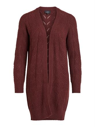 OBJECT Wine red knit cardigan