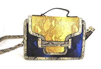 OBJECT Yellow/blu snake bag