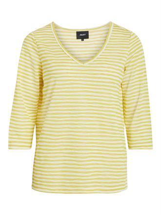 OBJECT Yellow stripes tee 3/4