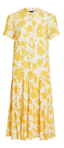 OBJECT Yellow & white lmaxi dress